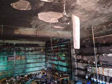 বালাগঞ্জের আজিজপুর বাজারে একটি দোকানে অগ্নিকান্ডে প্রায় ৬০ লক্ষ টাকার ক্ষয়ক্ষতি
