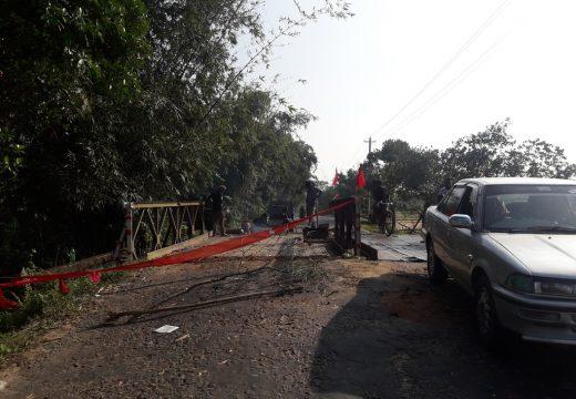 ফেঞ্চুগঞ্জের বেইলি ব্রিজ আবারো জোড়াতালি দিয়ে সচল করার চেষ্টা