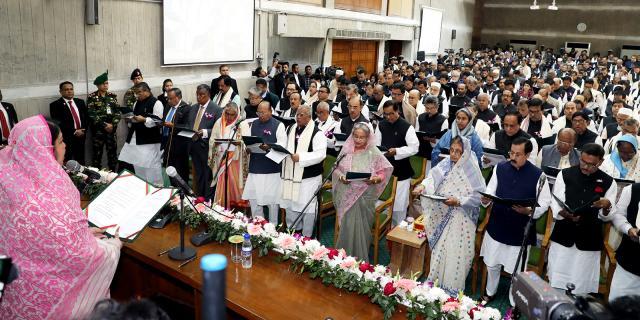 শপথ নিলেন একাদশ জাতীয় সংসদের নবনির্বাচিত সংসদ সদস্যরা