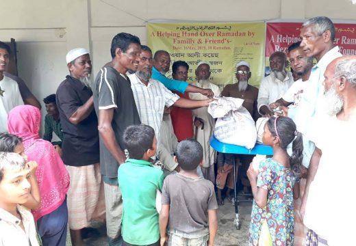 প্রবাসী সমাজকর্মী রেজুয়ান আলী কয়েছের উদ্যোগে ২শতাধিক পরিবারকে চাল ও অর্থ প্রদান