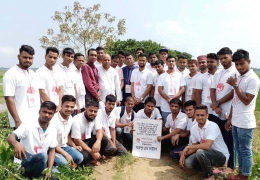 বালাগঞ্জের সড়কে 'গহরপুর ব্লাড ফাইটার্স' এর বৃক্ষরোপণ