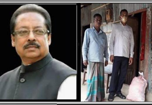 প্রবাসীর বাড়িতে খাদ্যসামগ্রী পাঠালেন এমপি মাহমুদ উস সামাদ চৌধুরী