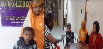 রোটারি ক্লাব জাহাঙ্গীরনগর ঢাকার প্রতি কৃতজ্ঞতা প্রকাশ