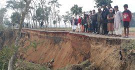 কুশিয়ারা নদীতে ধ্বসে পড়েছে বালাগঞ্জ-ফেঞ্চুগঞ্জ সড়ক
