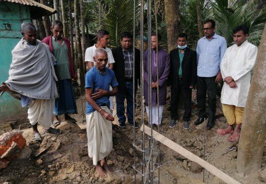 বালাগঞ্জ রাধাকোনা রাধাগোবিন্দ জিউ আশ্রমের নতুন মন্দিরের ভিত্তিপ্রস্তর স্থাপন