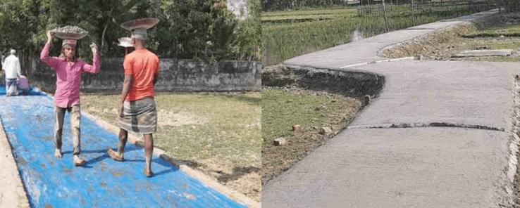 বালাগঞ্জের শিওরখালে প্রবাসীদের অর্থায়নে সড়ক পাকাকরণ