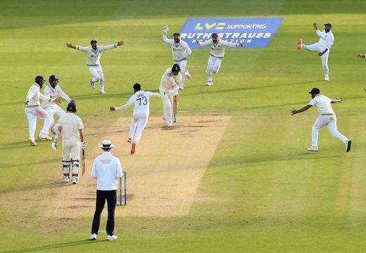 ইংল্যাণ্ডের বিপক্ষে লর্ডস টেস্টে অবিশ্বাস্য জয় ভারতের