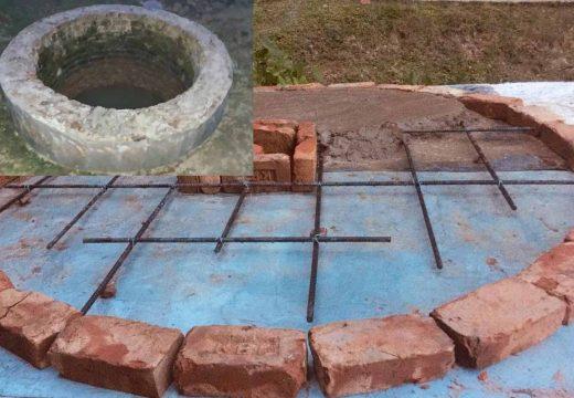 বালাগঞ্জে বিদ্যালয়ের ট্যাংকি ঢাকতে 'বিপদজনক স্ল্যাব' নির্মাণ!
