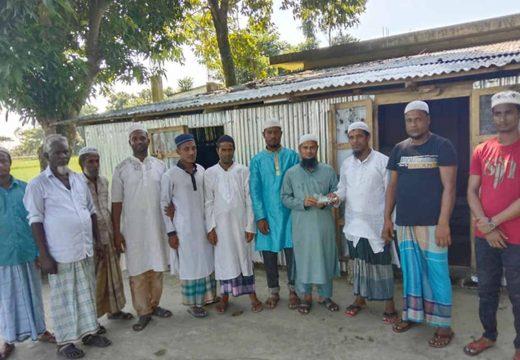 মসজিদ নির্মাণে তরিকুন নেছা ফাউণ্ডেশনের ৬০হাজার টাকা অনুদান